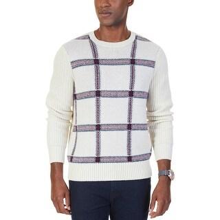 Nautica Mens Crewneck Sweater Double Knit Warm - L