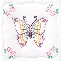 "Butterfly - Stamped White Quilt Blocks 9""X9"" 12/Pkg"