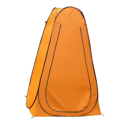 Outdoor Pop-Up Camping Beach Hiking Shelter Dressing Changing Room Tent Orange