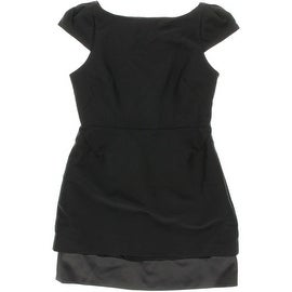 Halston Heritage Womens Cap Sleeves Cut-Out Cocktail Dress - 12