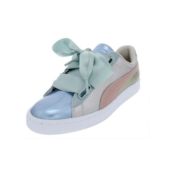 reputable site 3ce9d 66866 Shop Puma Womens Basket Heart Bauble Fashion Sneakers ...