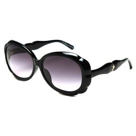 John Galliano Women's Oversized Flower Shaped Sunglasses Black - Small