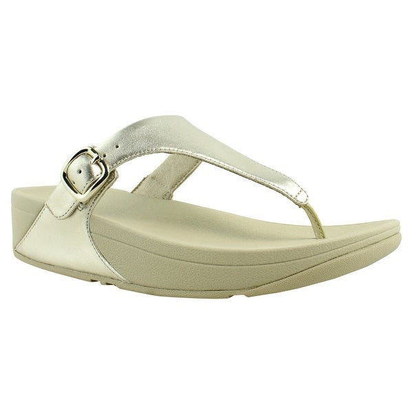 cf8b0b9679ec76 Shop FitFlop Womens The Skinny Pale Gold Flip Flops Size 7 - Free ...