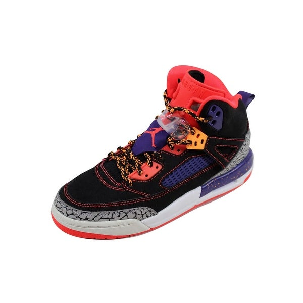 eb40bae7c76 Shop Nike Grade-School Air Jordan Spiz ike Black Bright Crimson ...