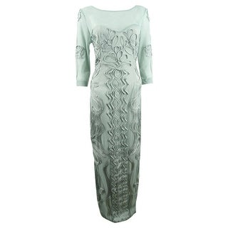 Link to JS Collections Women's Illusion Soutache Gown - Seafoam Similar Items in Dresses