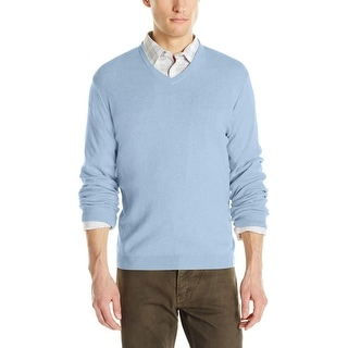 Calvin Klein CK V-Neck Sweater X-Large Pale Persian Blue Heather Pullover - XL