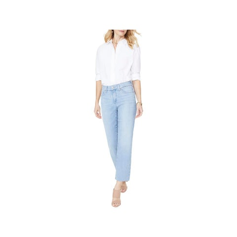 NYDJ Womens Straight Leg Jeans Ankle Five-Pocket