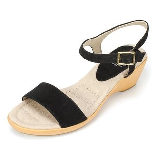 White Mountain Womens CORKY Leather Open Toe Casual Ankle Strap Sandals