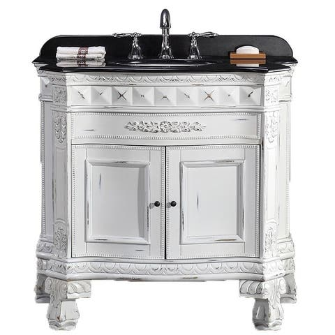 OVE Decors York 36-inch Single Sink Bathroom Vanity with Granite Top