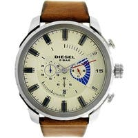 Diesel Men's Stronghold DZ4357 Brown Leather Quartz Fashion Watch