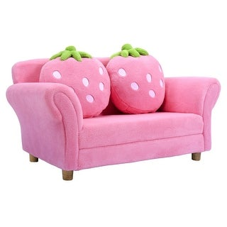 Link to BL/PI Kids Strawberry Armrest Chair Sofa-Pink Similar Items in Kids' & Toddler Chairs