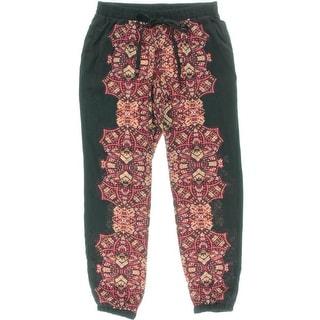 BeBop Womens Pattern Elastic Waist Jogger Pants - M