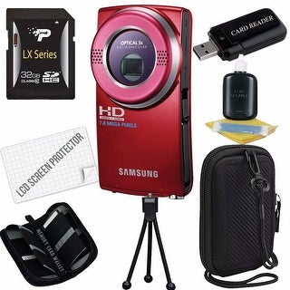 Samsung HMX-U20 Camcorder Bundle (Red)