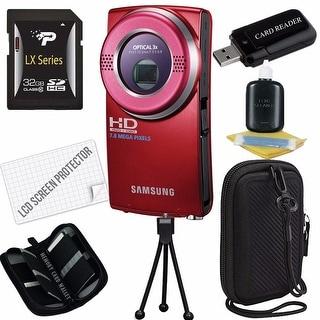 Samsung HMX-U20 Camcorder Bundle (Red)