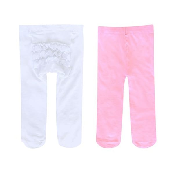 Jumping Beans Toddler Girls 2-Pack Rhumba Lace Tights - 12-24 months