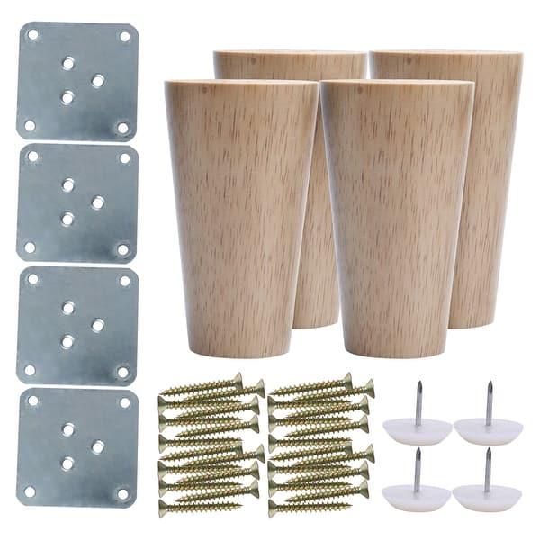 4 Inch Round Wood Furniture Legs
