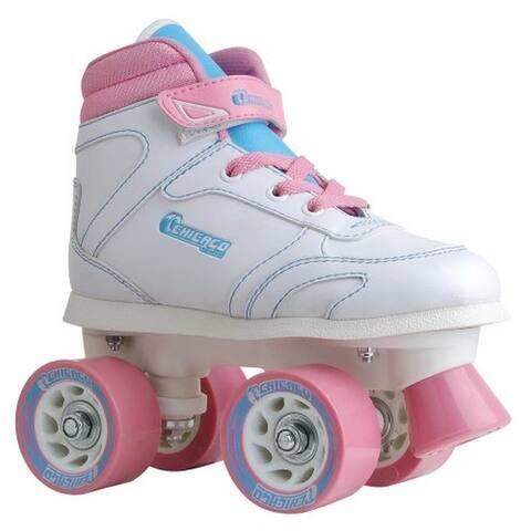 Chicago Skates Girls Sidewalk Roller Skate, Kids, White