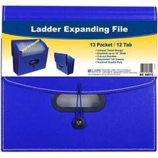 Blue - 13-Pocket Ladder Expanding File