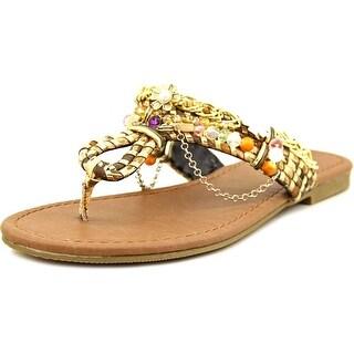Famous Name Brand Beachside Open Toe Canvas Thong Sandal