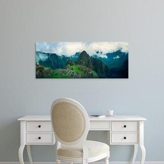 Easy Art Prints Panoramic Images's 'An archaeological site, Inca Ruins, Machu Picchu, Cusco Region, Peru' Canvas Art