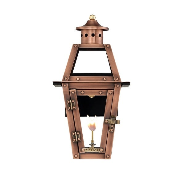 """Primo Lanterns OL-15G Orleans 13"""" Wide Outdoor Wall-Mounted Lantern Natural Gas Configuration - Copper - n/a"""