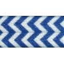 "Chevron - Lake Blue - Dritz Fold-Over Elastic 5/8""X1yd"