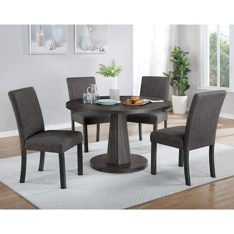 Furniture of America Taliesin Walnut 5-piece Dining Table Set