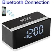 Boytone BT-86C Bluetooth 4.1 Portable Alarm Clock Radio Wireless Speaker, Digital FM