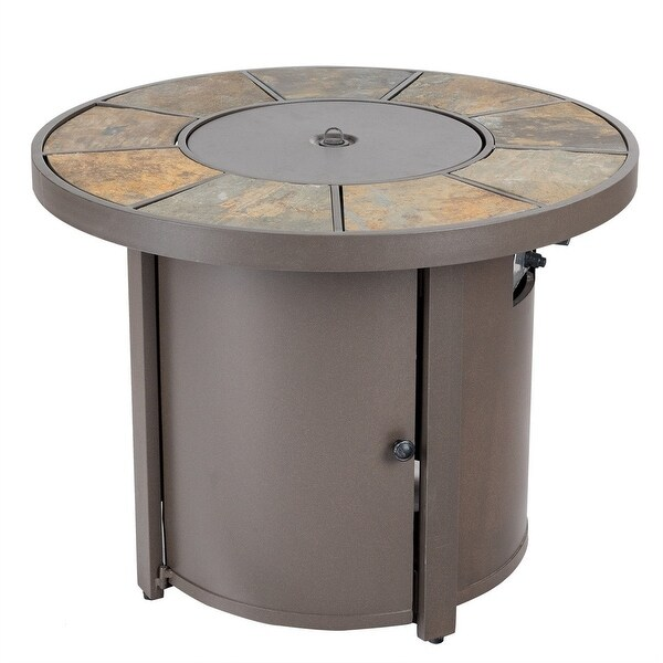 30000BTUs Round Outdoor Propane Gas Patio Heater with Cover