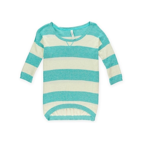 Aeropostale Womens Striped Ribbed Knit Sweater