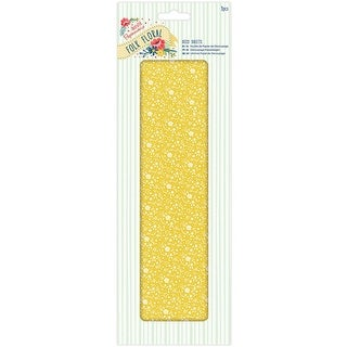 Papermania Folk Floral Deco Sheets 3/Pkg-Yellow Floral