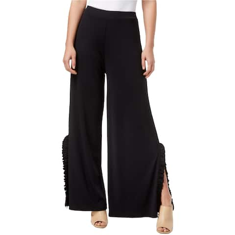 Kensie Womens Ruffled Trim Split Gaucho Dress Pants