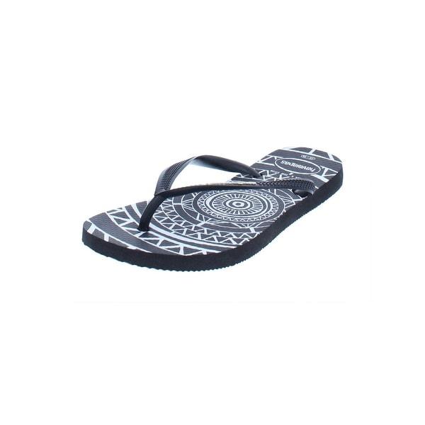 b63d2729a Havaianas Slim Womens Mandala Flip-Flops Rubber Thong - 11-12 medium (b