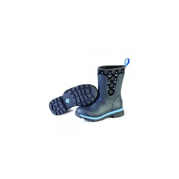 Muck Boots Gray/Blue Anchors Women's Cambridge Mid Boot - Size 10