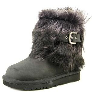 Ugg Australia Ellee Toddler  Round Toe Leather Black Ankle Boot