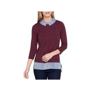 Tommy Hilfiger Womens Sweater Knit Layered