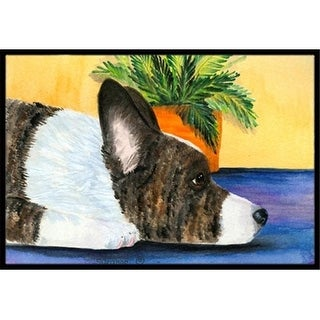 Carolines Treasures SS8190JMAT 24 x 36 in. Corgi Indoor Or Outdoor Doormat