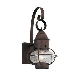 """Designers Fountain 1761-RT 1 Light Outdoor 10"""" Onion Wall Lantern from the Nantucket Collection - rustique"""