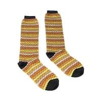 Missoni GM00COD4933 0004 Yellow/Orange Knee Length Socks