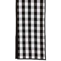 "6' x 13"" Black and White Checkered Buffalo Decorative Table Runner"