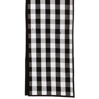 """6' x 13"""" Black and White Checkered Buffalo Decorative Table Runner"""