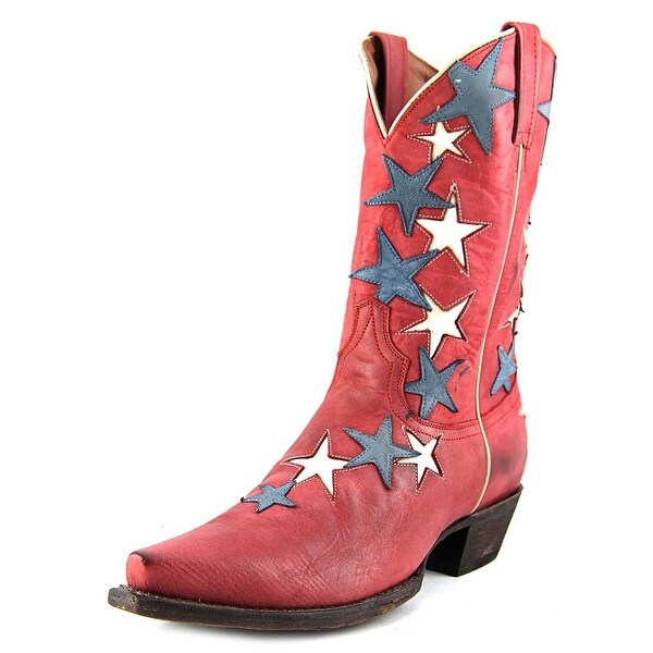 American Rebel Boot Company Country Star Women Leather Red Western Boot