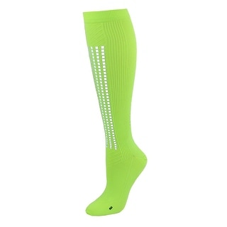 Champion Men's Compression Athletic Sock with Reflective Stripe - Lime - One Size