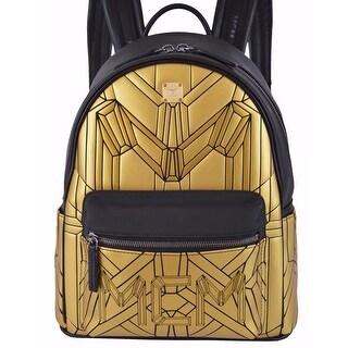 MCM Men's Small Gold Black Bionic Backpack Rucksack