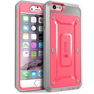 Samsung Galaxy Note 5 Case,SUPCASE, Unicorn Beetle PRO Series, Full-body Cover with Built-in Screen Protector-Pink/Gray