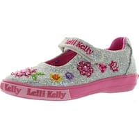 Lelli Kelly Girls Lk7186 Fashion Canvas Mary Jane Dolly Flats Shoes