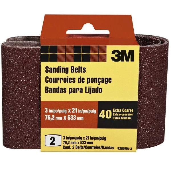 3M 9285-2 Heavy Duty Resin Bond Power Sanding Belt, 3