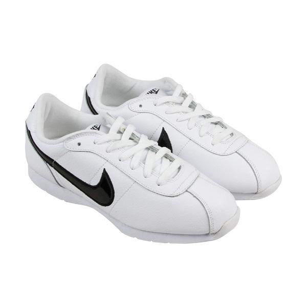 finest selection 73a79 fa365 Nike Stamina Mens White Leather Athletic Lace Up Running Shoes