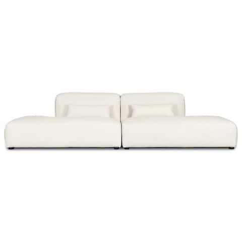 Poly and Bark Infina Armless Modular 2 Piece Sofa