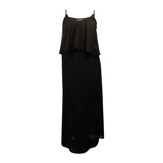 NY Collection Women's Pocketed Spaghetti Strap Maxi Dress - Black